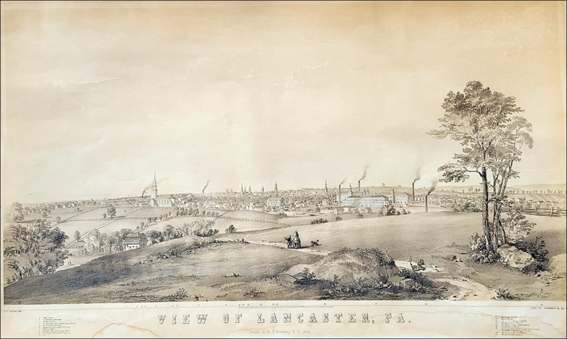 An Old Lithograph Captures Cabbage Hill on the Cusp of Development