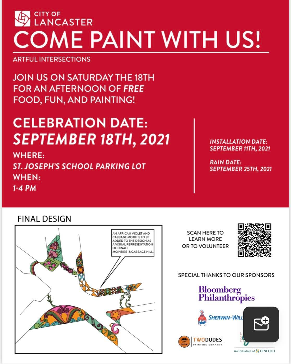 Artful Intersection Community Paint Day